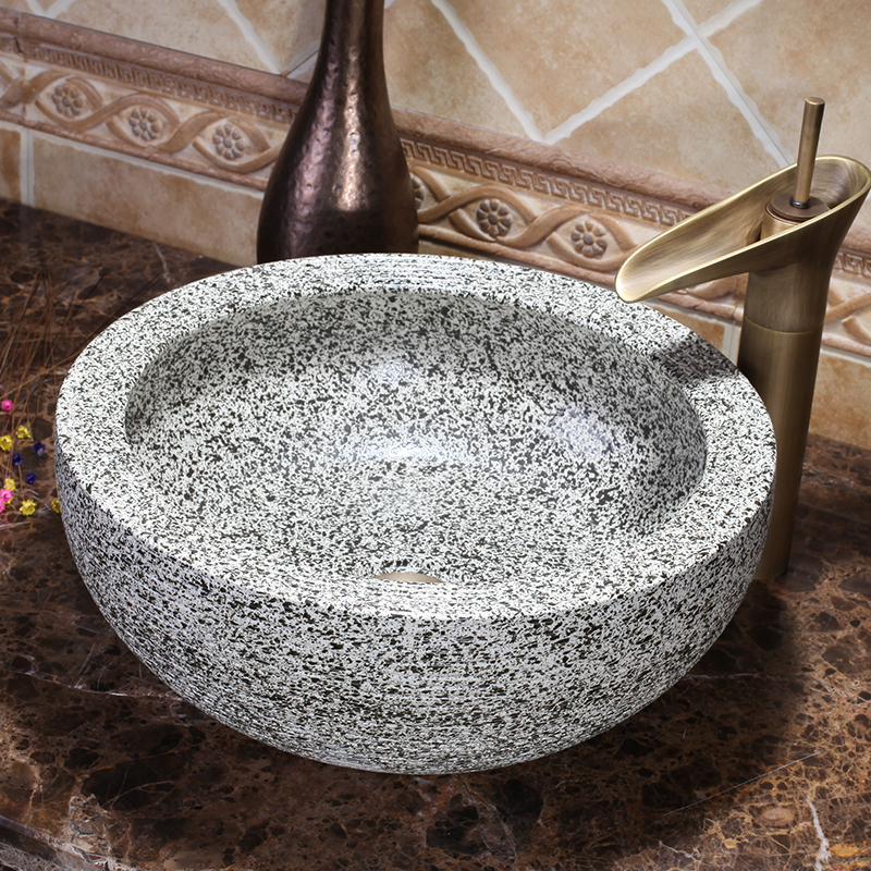 Modern Artistic Fresh Elegant High-end Handmade Bathroom Round Vanity Wash Basin Sinks