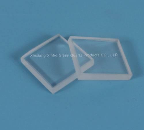 round transparent quartz plate polished