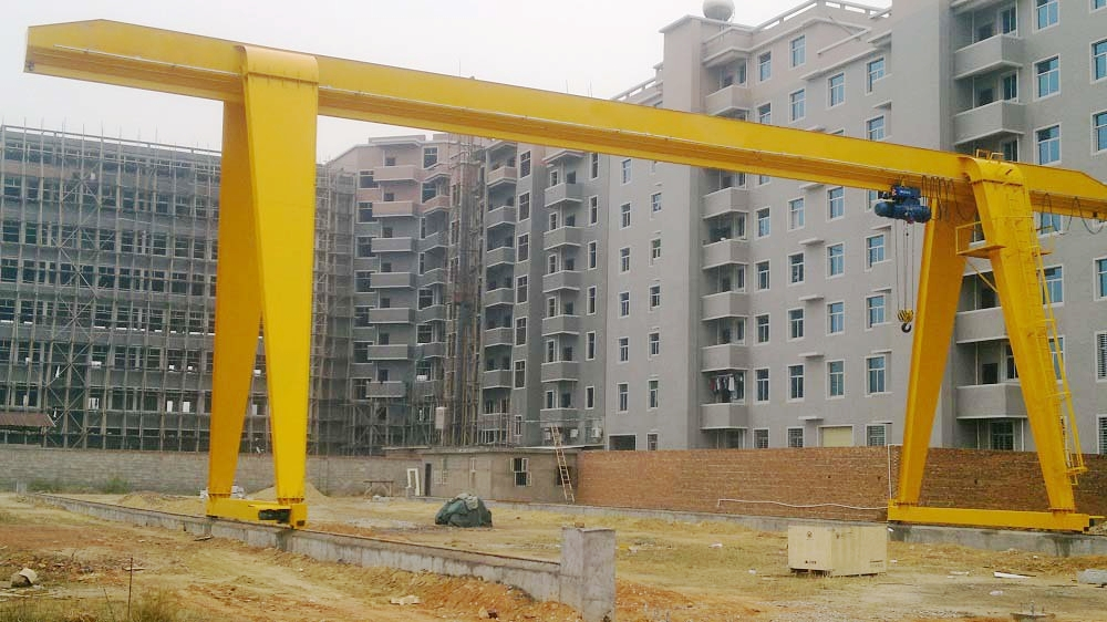 Outdoor Factory Yard Single Girder Gantry Crane Drawing