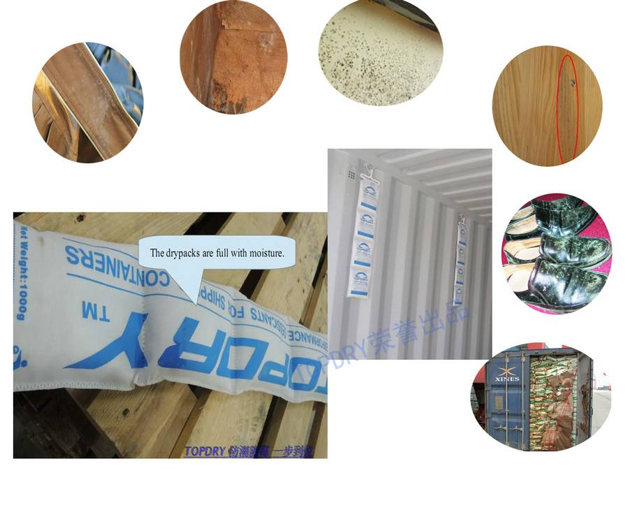 Cargo Desiccant against corrosion
