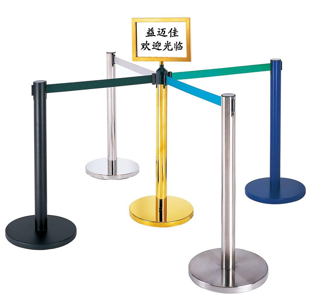Queue pole,stanchion,hotel railing stand,crowd control stanchions, barrier system,retractable belt b