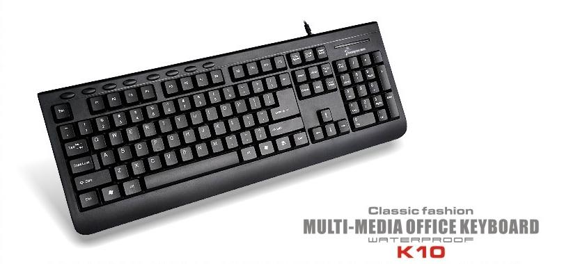 wired standard computer keyboards multimedia keyboard k100
