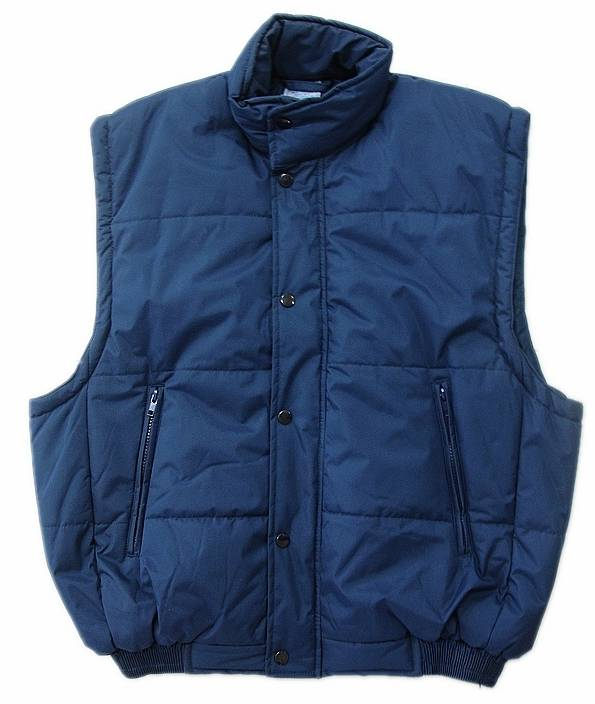 Men's winter 100% polyester padding body warmer vest