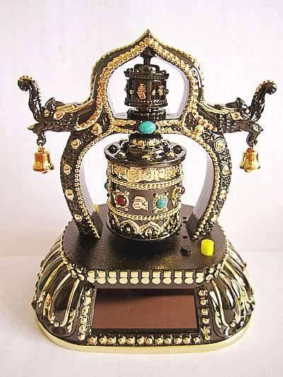 Solar Prayer Wheel,Solar Powered Prayer Wheel Chanting OM MaNi Padme Hum