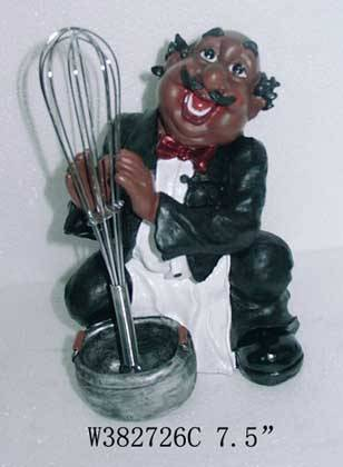 sell polyresin figurine with Whisk / eggbeater