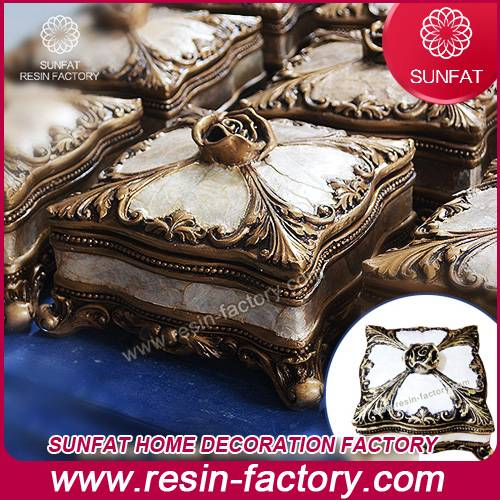 Bedroom decoration resin jewelry case for wedding decor