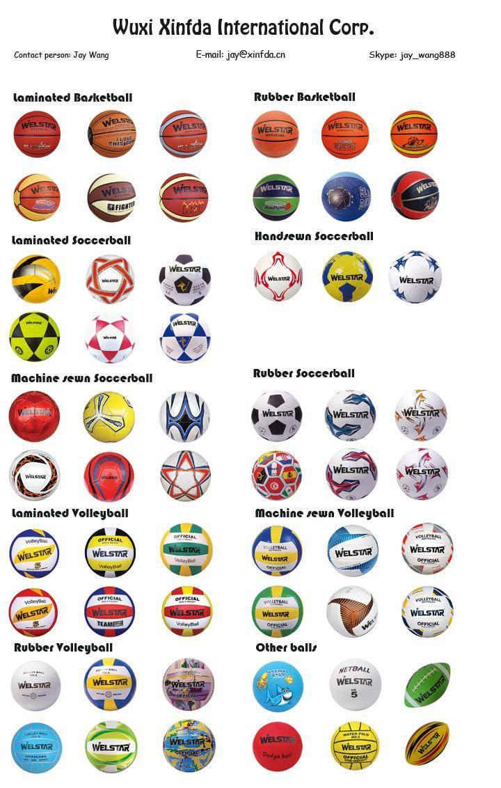 Promotion PU PVC Rubber Leather Sport balls