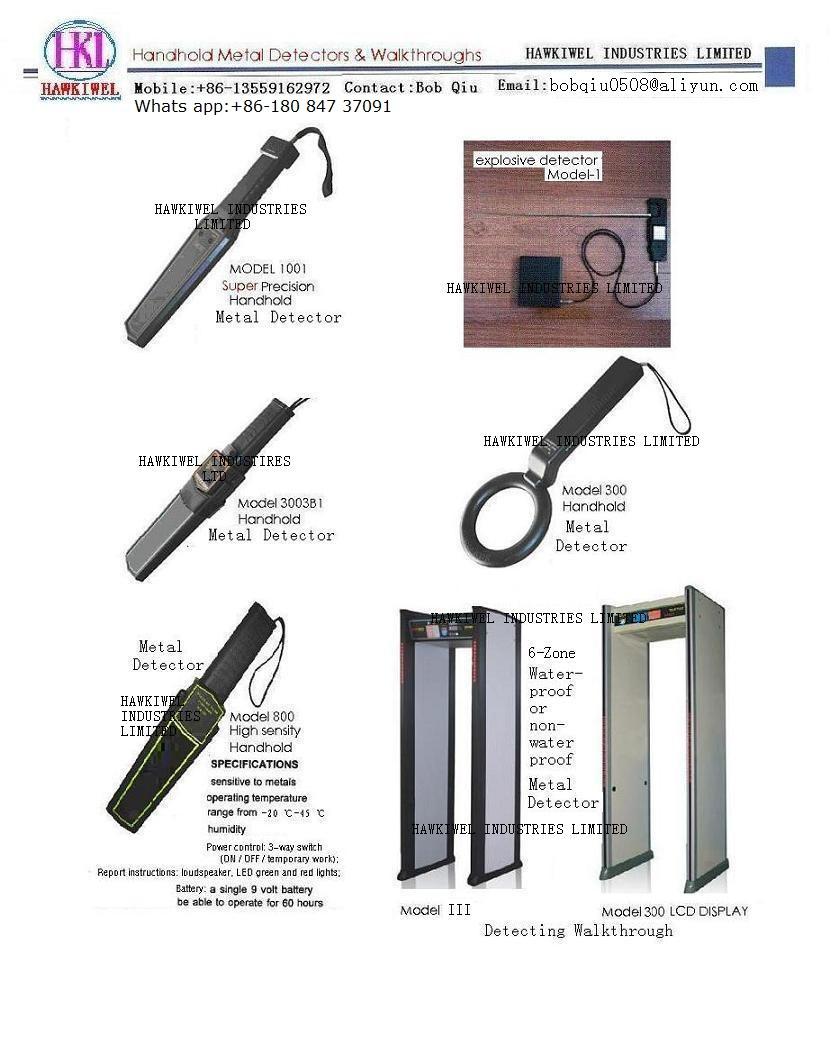 handhold metal detector & walkthroughs detector