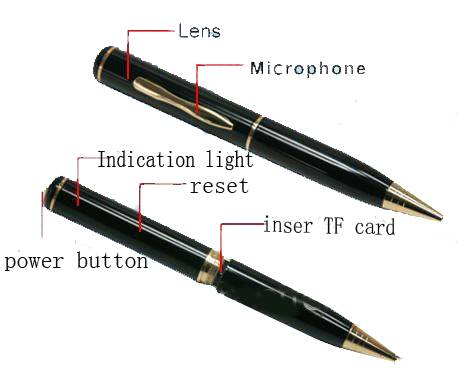 super mini recorder pen with TF card slot