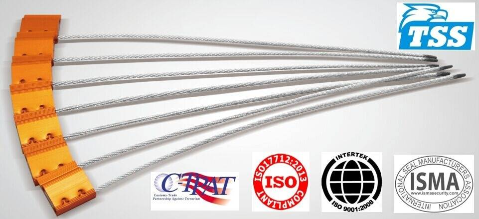2.5mm diameter Cable Seal Model No. TSS-CF2.5TBIGFLAG with Easily-recycled Aluminum Structure