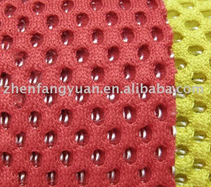 shiny mesh fabric 100% polyester