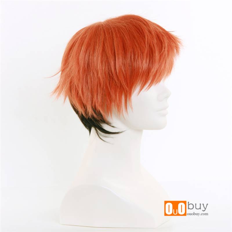Selling Zootopia Nick Orange Fade To Black Short Personification Cosplay Wig