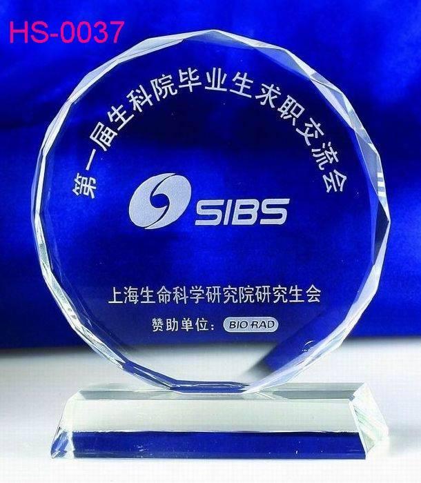 New crystal trophy / inner laser LOGO / Accept OEM