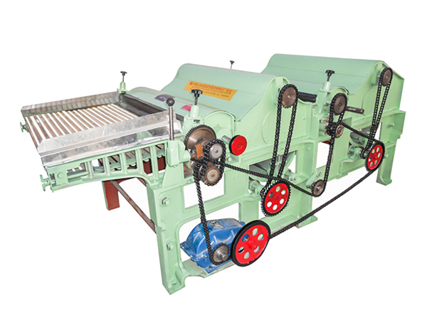 Double rollers GM250 textile waste recycling machinery