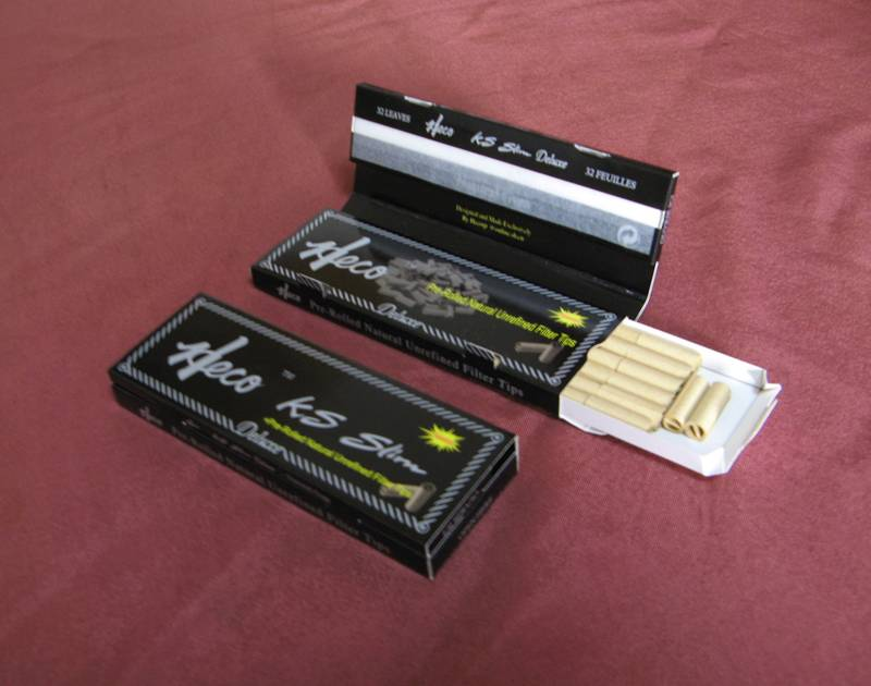 Heco KS Slim rolling papers+pre-rolled paper filter tips