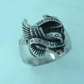 harley motor cycle biker skull ring pendant