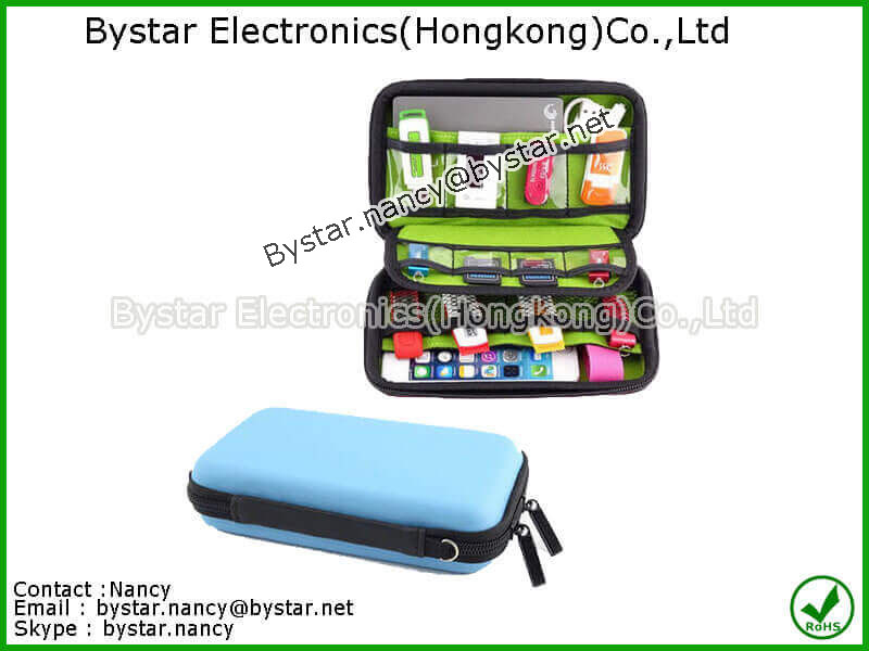 EVA case travel pouch cell phone hard case USB protective case ant-shock case foam EVA case