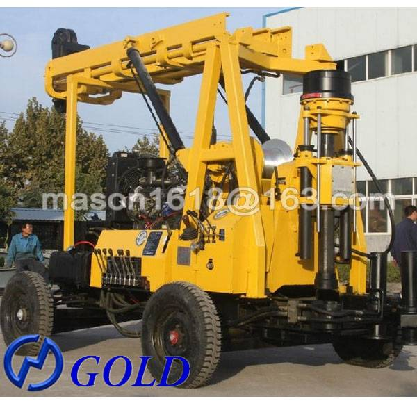 Multipurpose Well Selling XYX-3 Trailer Mounted Water Well Drilling Rig