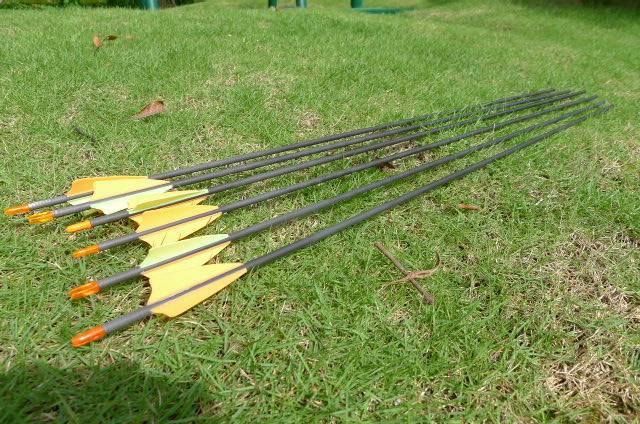 Carbon fiber arrow for shooting