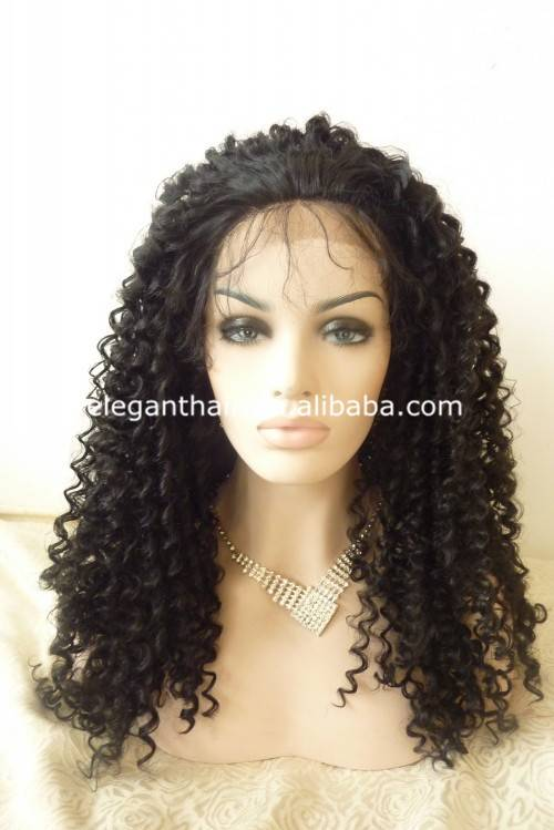Quality Synthetic hair lace front kinky curl wig