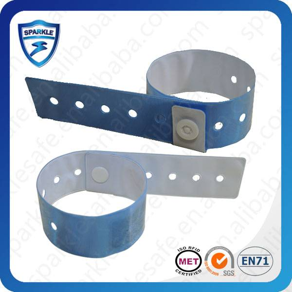 Disposable paper RFID wristband