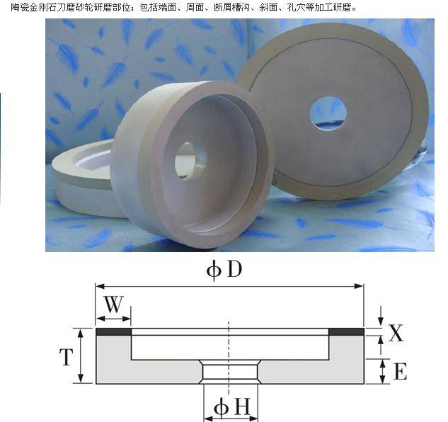 grinding wheel for pcd tool cutting