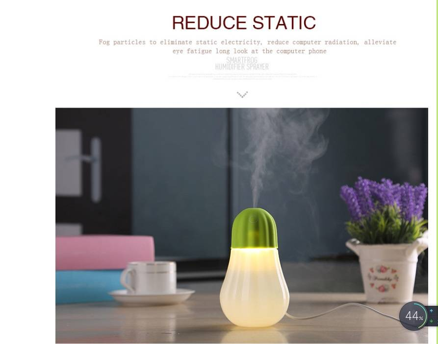 350ml, DC5V,2W diffuser air purifier/Strong fog mini table portable pumpkin water bottle humidifier