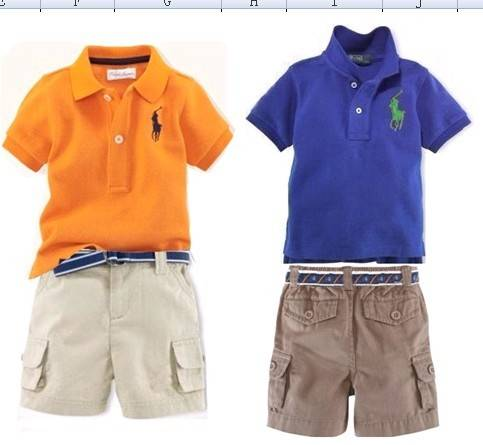 polo children set , summer suit