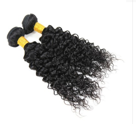 [8A]2 Bundles Malaysian Water Wave Hair Weave with 360 frontal