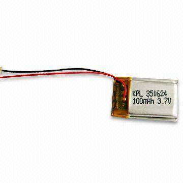 Polymer Battery with 4.2V Charging Voltage and 100mAh Nominal Capacity