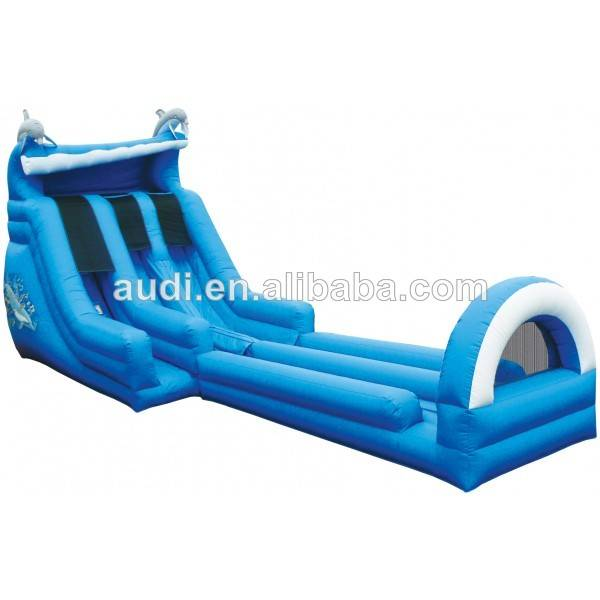 Dual Lane Splash Down Inflatable Wet/Dry Slide