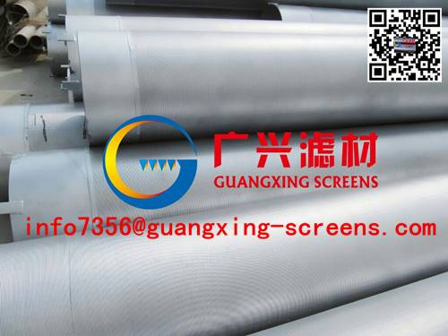 168mm Galvanized well drilling water well screen/wire wrapped Johnson well screen pipe