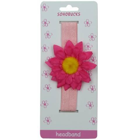 Hot-Pink-Sunflower-Yellow-Centerpiece-Light-Pink-Crease-less-2.5-cm-Headband-for-Baby-1218