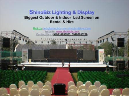 Indoor/ outdoor mobile van biggest/ truck-mount/ led video screen on rental, Hire kolkata