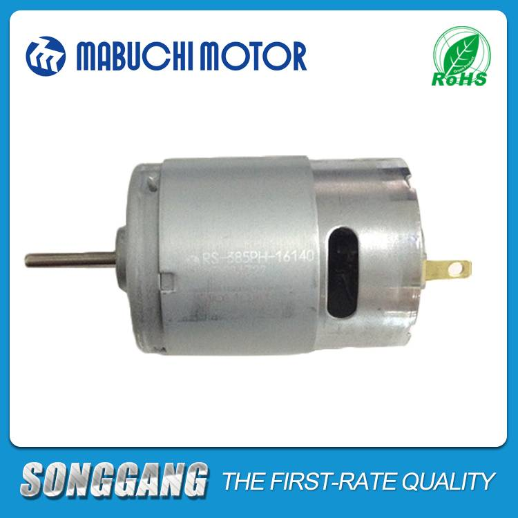 High Torque High Speed Home Appliances 24V 20000rpm DC Gearhead Mabuchi Motor RS-385PH-2465 For Prin