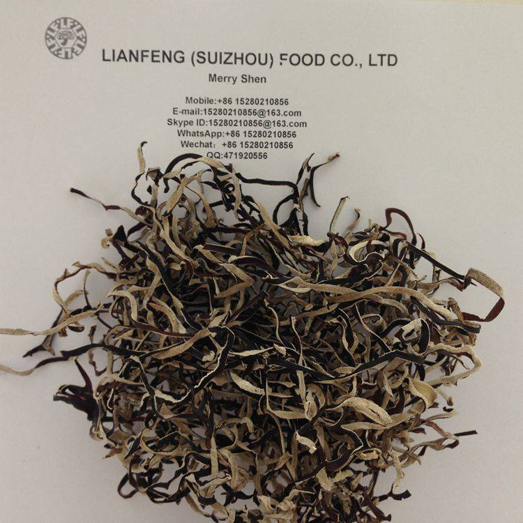 Dried White Black Fungus Mushroom Slices with 3MM Thickness
