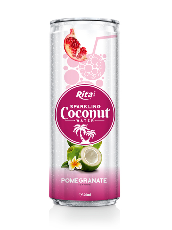 Pomegrante Flavour Sparkling Coconut Water