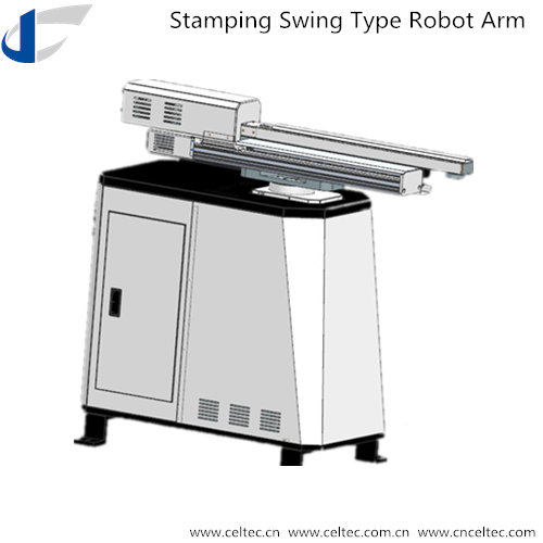Swing type robot arm for stamping press
