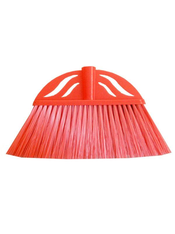Indoor Plastic Broom Brush Available in Red, Green, Orange, Purple, White