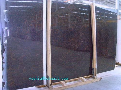 tan brown granite slabs for countertops from stone manufacturer