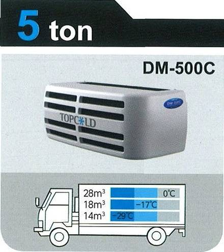 TOPCOLD / DM-500C / Truck Refrigeration Unit / Reefer Van / Refrigerator Truck / Made in Korea