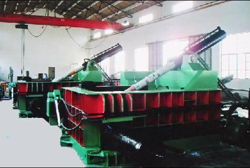 Scrap steel press block machine