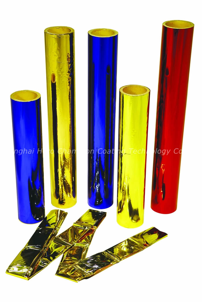 Colored coated metallized films colorful wrapping films