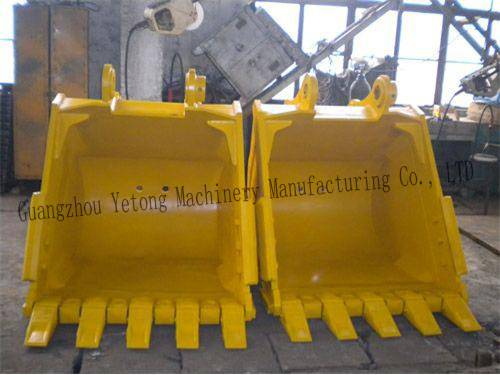 Rock / Stone / Mud Excavator Ditching Bucket , Ditch Buckets Excavator Attachments