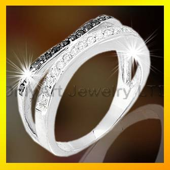 stelring silver cz diamond rings