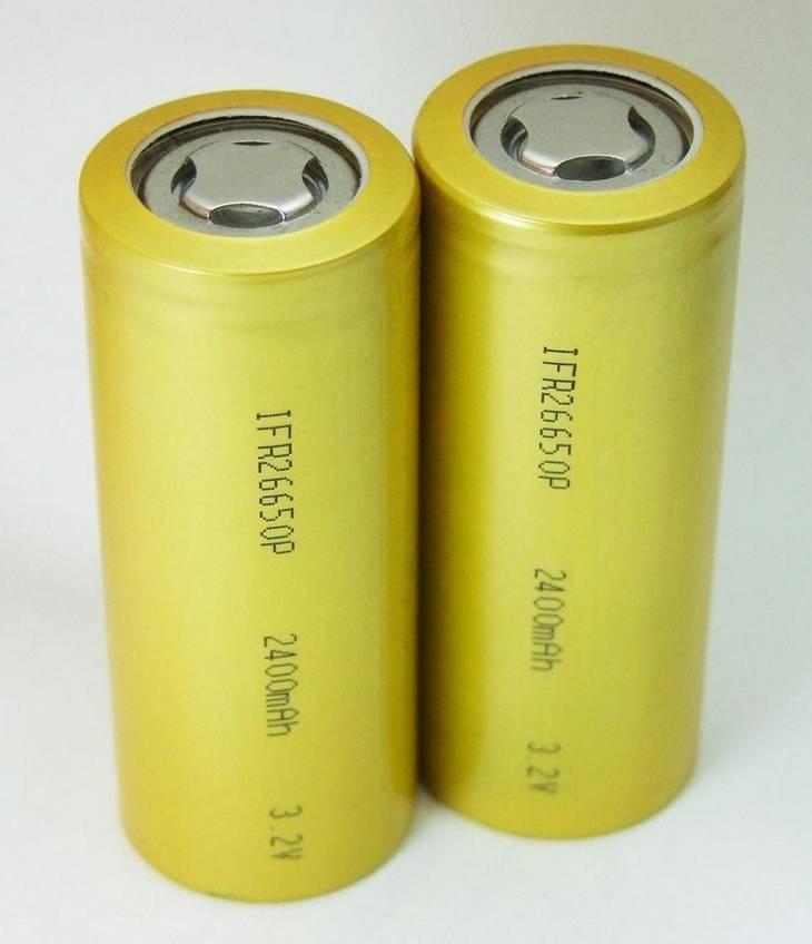 Cylindrical Rechargeable LiFePo4 battery 26650 3.2V for solar light e-bike flashlight battery
