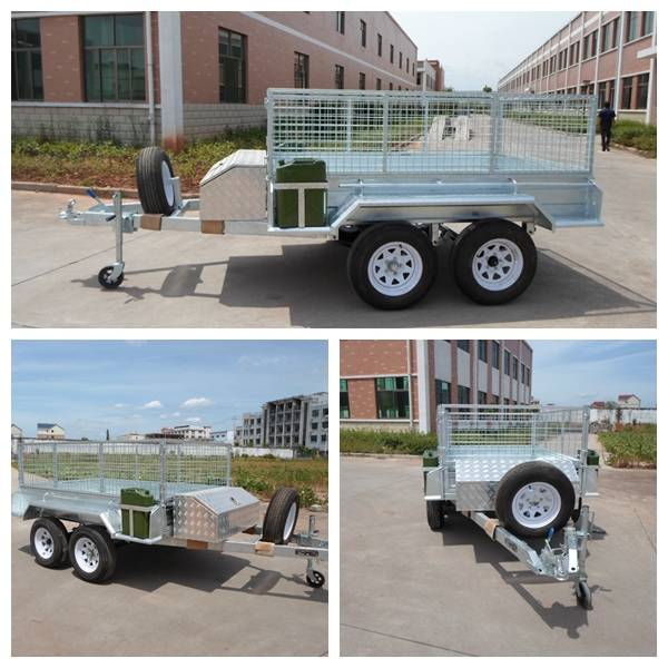 Heavy duty 85 ft dual axle GTM 1999kgs full hot dip galvanized cage trailer with hot dip galvanized