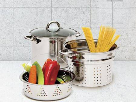Stainless steel pasta pot 4pcs