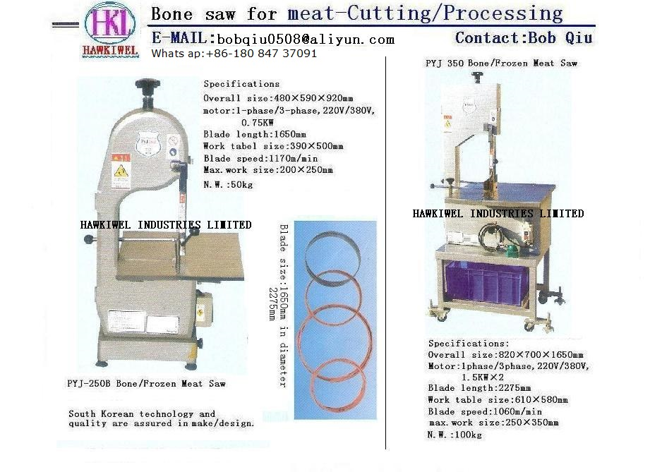 bone saw & meat cutter/grinder