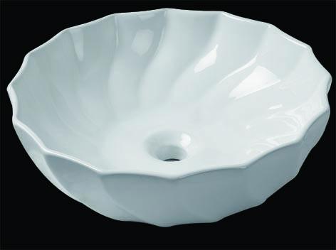 Elegant Sanitary Ware, White Ceramic Wash Basin